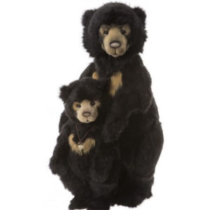 "CB19197475 CHARLIE BEARS TONI AND MILLI (SUN BEARS)  Size: Toni 24.5"" (62cm)  Milli 16"" (41cm)SOLD OUT"