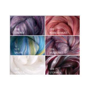 FBSM Silk Merino Top 10-12 grams