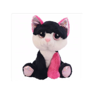 11124 FUN LI'L PEEPERS BLACK & PINK CAT