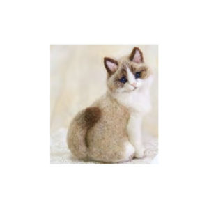 FBREAL2 Needle Felted Rag-doll Cat