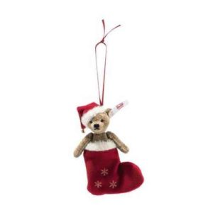 STEIFF 006043 Christmas Teddy Bear Ornament
