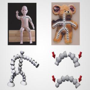 Flexible Toy Skeleton Snap Proof Type