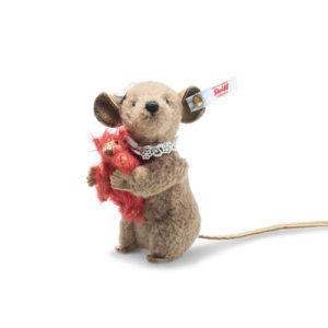 STEIFF 006142 Xenia Mouse 11cm with Teddy Bear