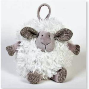 Round Lamb White ST8143 23cm