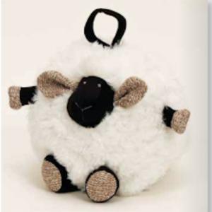 Round Lamb Black and White ST8143B 23cm