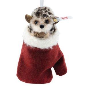 STEIFF 007040 Hedgehog in Mitten Ornament